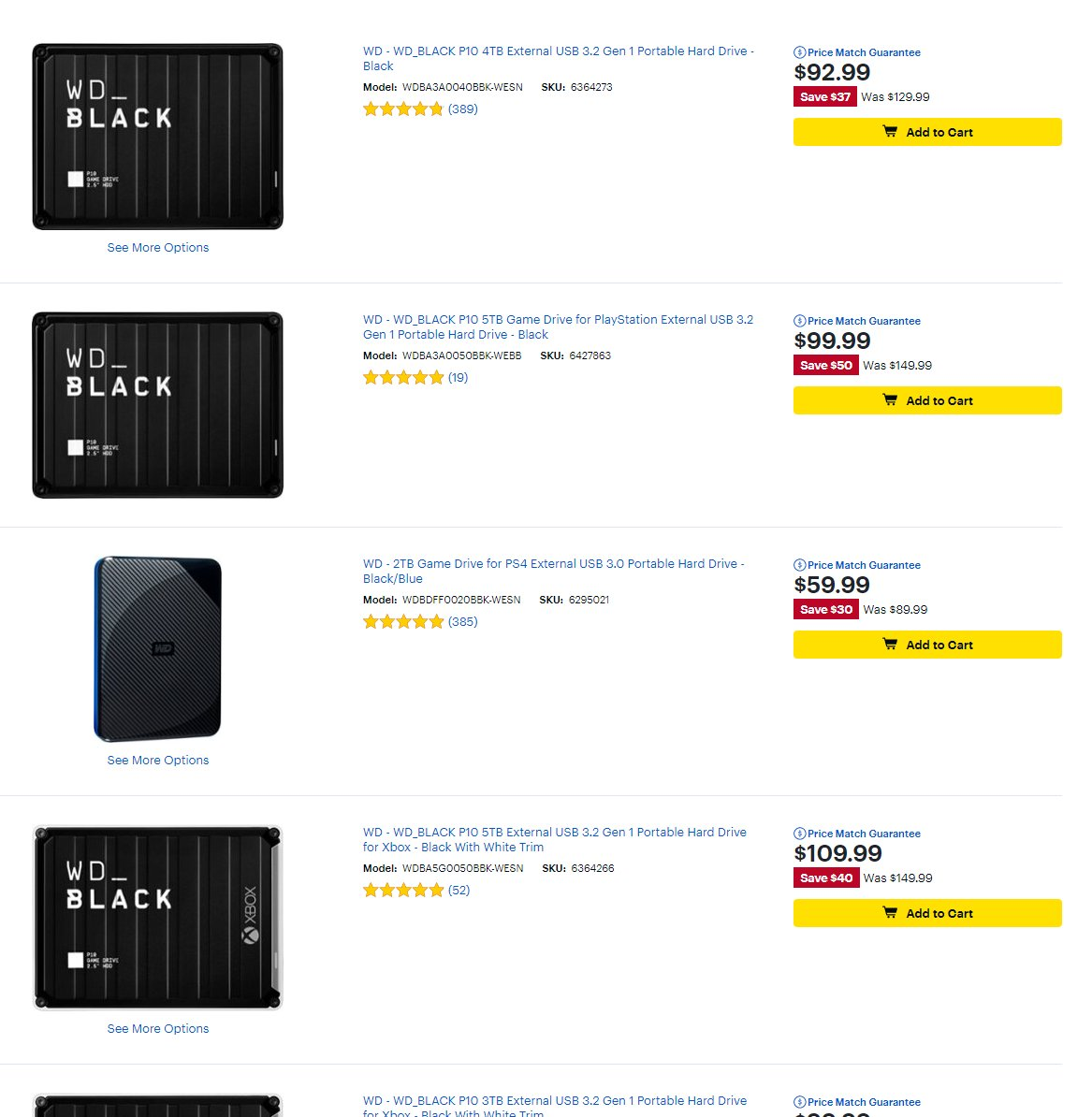 External Hard Drive sale at Best Buy