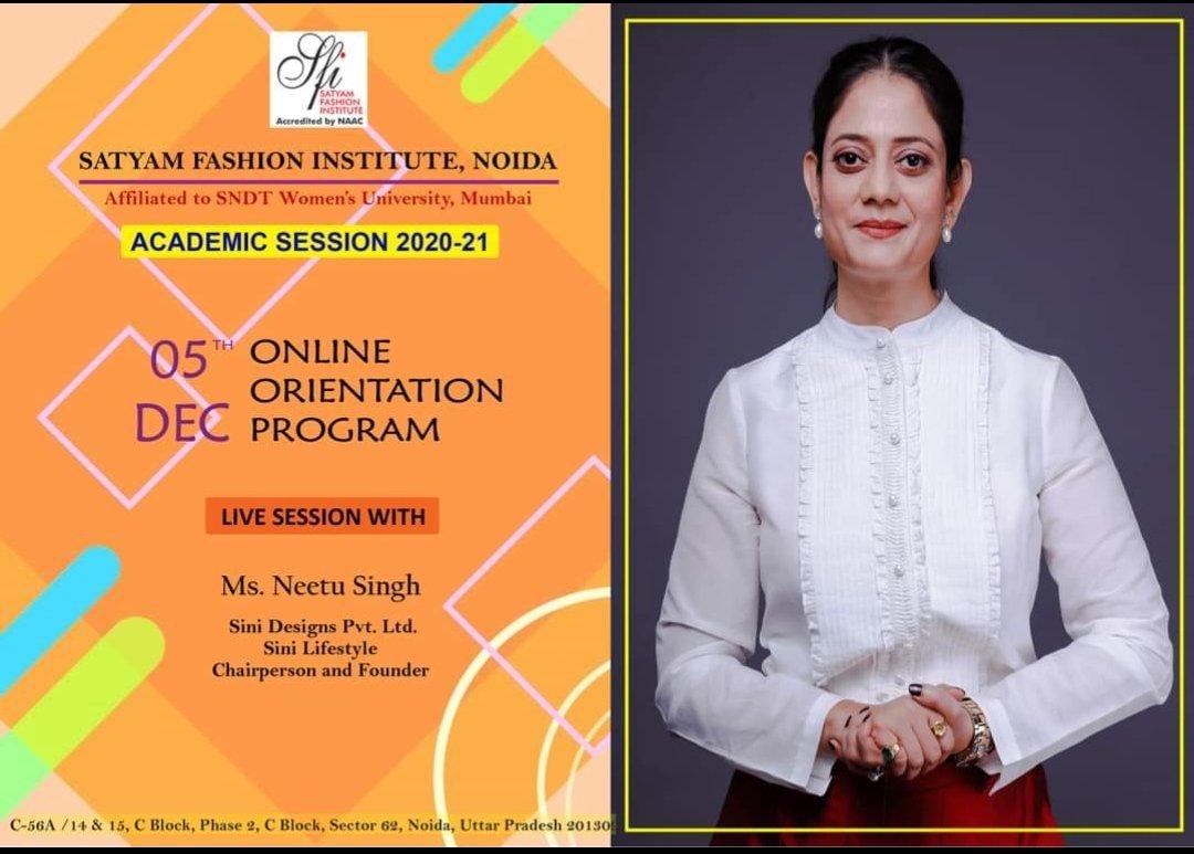 Listen Ms.Neetu Singh @orientation #neetusingh #designer #fadhion #sfi