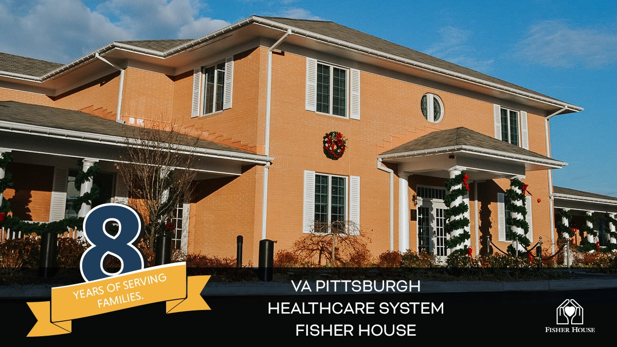 Please help us wish a very Happy 8th #FisherHouseAnniversary to the @VAPittsburgh Fisher House. #OTD, they opened their doors to families back in 2012, just in time to help #veterans and their families during the holiday season.