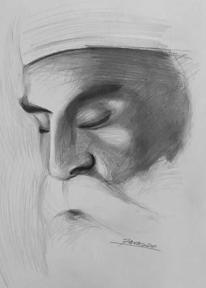 Latest commissioned work #GuruNanakJayanti #GuruNanakJayanti2020 #ArtistOnTwitter #art #sketch #pencil #paper #drawing