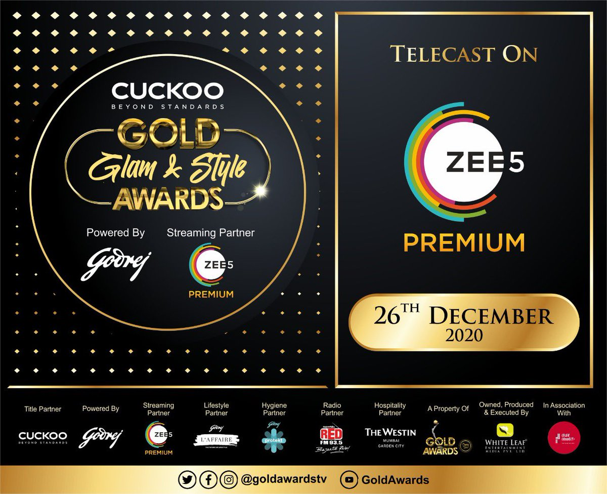 Announcing the telecast of the #goldglamandstyleawards on 26th december on @ZEE5Premium we will get back with more details soon. Watch the glamour & glitz unfold ⭐️⭐️ @goldawardsTV @Celebconnect32 @Whiteleafent1 😇😇 #goldawards #goldawards2020 #awards #entertainment #fun #masti
