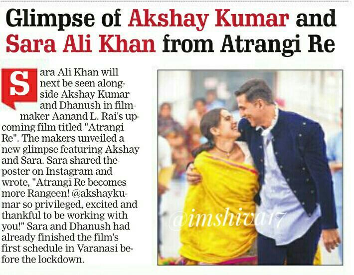 Glimpse of #AkshayKumar and #SaraAliKhan from #AtrangiRe  @akshaykumar joins last schedule of @aanandlrai film, #Dhanush , #NimratKaur also in action...  @dhanushkraja @NimratOfficial @Saratimes95
