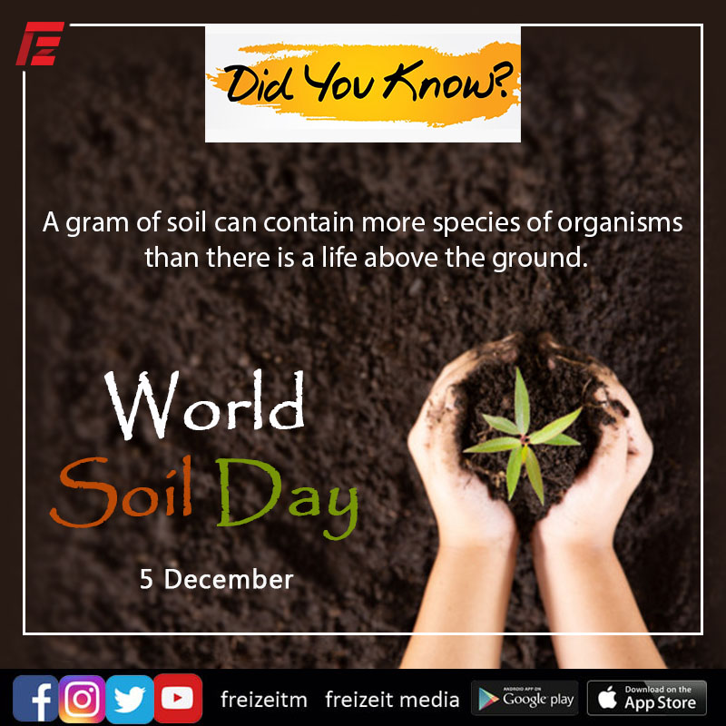 There can be no life without soil and no soil without life🌿 #WorldSoilDay #WorldSoilDay2020   #saveplantearth🌍 #planetearth #soil #Nature #Earth #Facts, #FunFacts #NatureFacts #agriculture  #healthysoil #Farmers #localfarmers #Farmerslife #SaturdayVibes #FreizeitMedia.