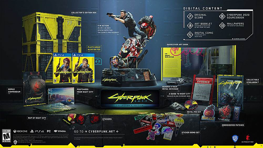 Cyberpunk 2077 Collector's Edition (PS4/XBO) preorder available at Walmart ($249.99)