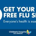 Image for the Tweet beginning: Get your free flu shot