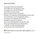 "Image for the Tweet beginning: 🇷🇴 Nichita Stănescu, ""Lecția despre"