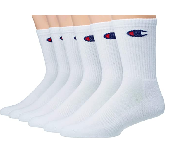 STEAL!!  6 pack of Champion Socks, $9.99!! 50% off!!  2