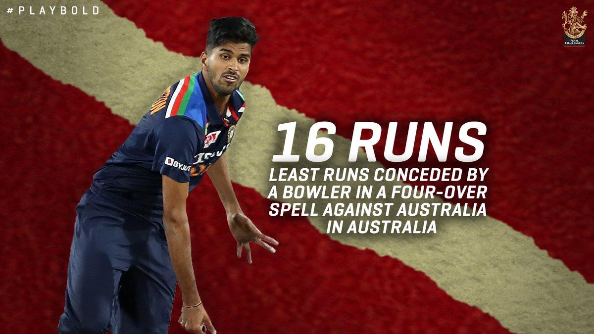 Effective. Accurate. Power player. 👏🏻👏🏻  @Sundarwashi5 #PlayBold #WeAreChallengers #AUSvIND #TeamIndia