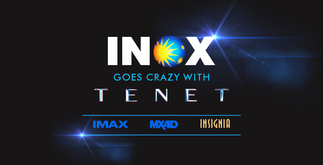 """We are going TENET Crazy!! It's your time now!   Have you experienced the """"Film Of The Year"""" on the magnificent screens of INOX, IMAX or MX4D yet??  #INOX #IMAX #MX4D #WarnerBros #Tenet #ChristopherNolan #Nolan"""