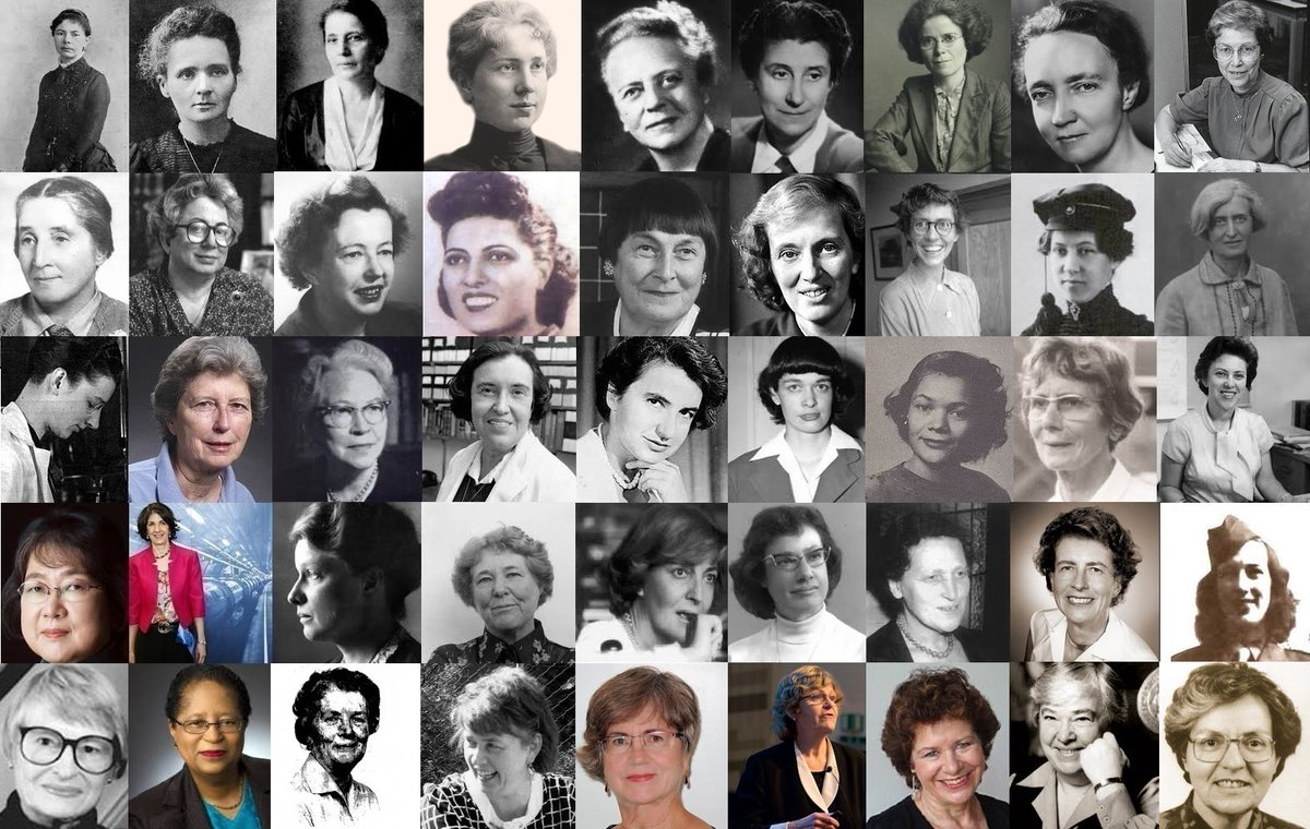 A collage of a few women that have made groundbreaking contributions to radiation research and use of radiation in medicine.  #WomenWhoCurie #WomenInScience #WomenInSTEM #125yrsRadOnc @Rad_Nation