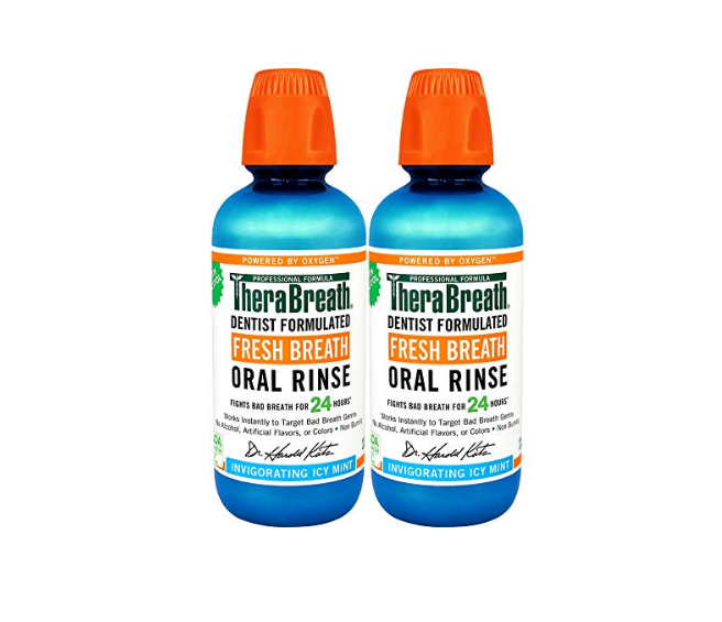 2 pack of TheraBreath Fresh Breath Oral Rinse, as low as $11.10!  *coupon on page  2