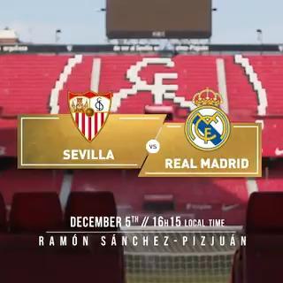 🙌 IT'S MATCHDAY! 🙌 🆚 @SevillaFC_ENG 🏆 @LaLigaEN 👉 Matchday 12 🏟 Ramón Sánchez-Pizjuán ⏰ 16:15 CET #⃣ #RMLiga | #SevillaFCRealMadrid