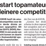 Ook in #ADUN: Herstart voor topamateurs GVVV, DOVO, Hercules en DHSC in kleinere competities