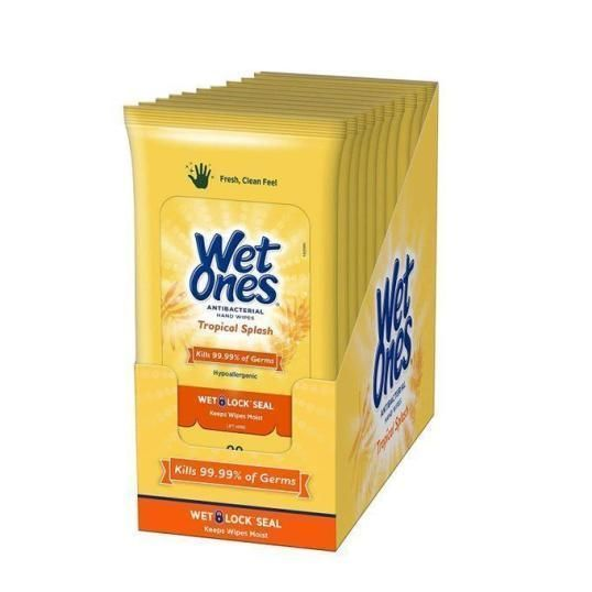 20 packs of Wet Ones Antibacterial Wipes, as low as $13.52, retail $20!  2
