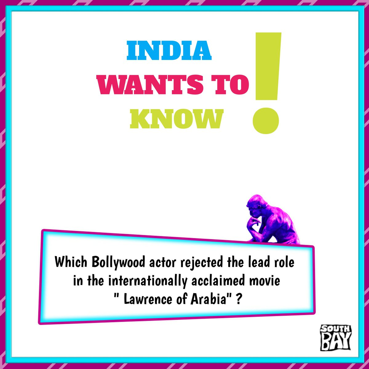 Your un-googled answers are most welcome! @IWTKQuiz #IndiaWantstoKnow #Southbay #Southbaylive