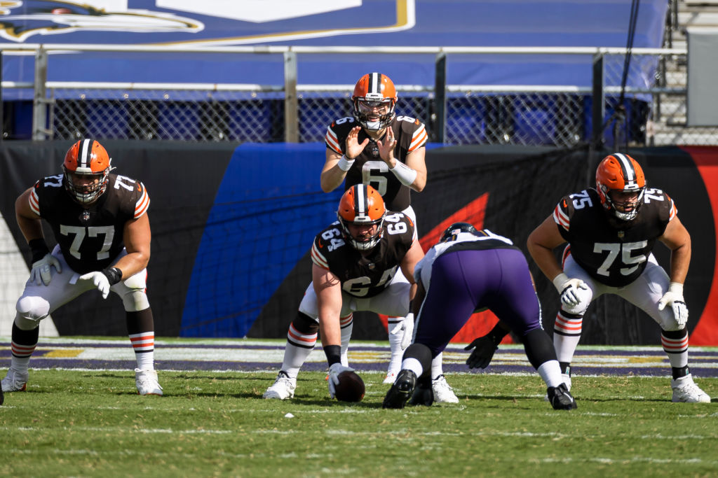 #Browns lead the league in both pass blocking and run blocking grade