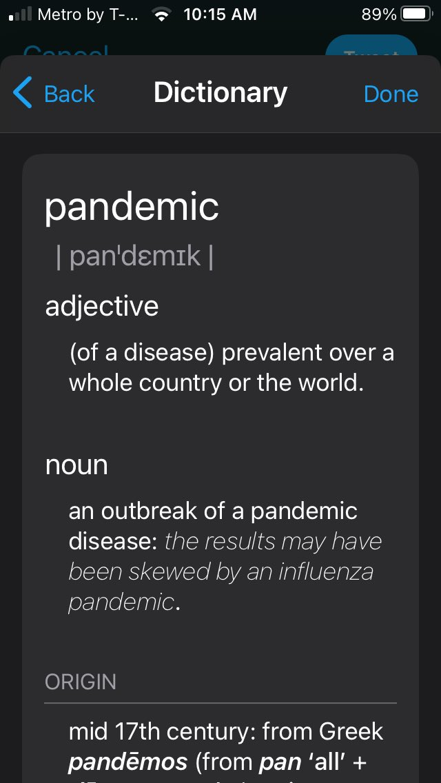 Good Morning 😃 #IWearAMaskBecause It's a #PANDEMIC and the definition speaks for itself #Covid