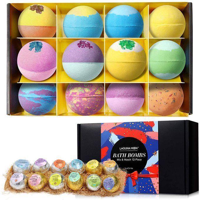 12 pack of Bath Bombs, $9.99!  Use promo code; 505B3FRT  2