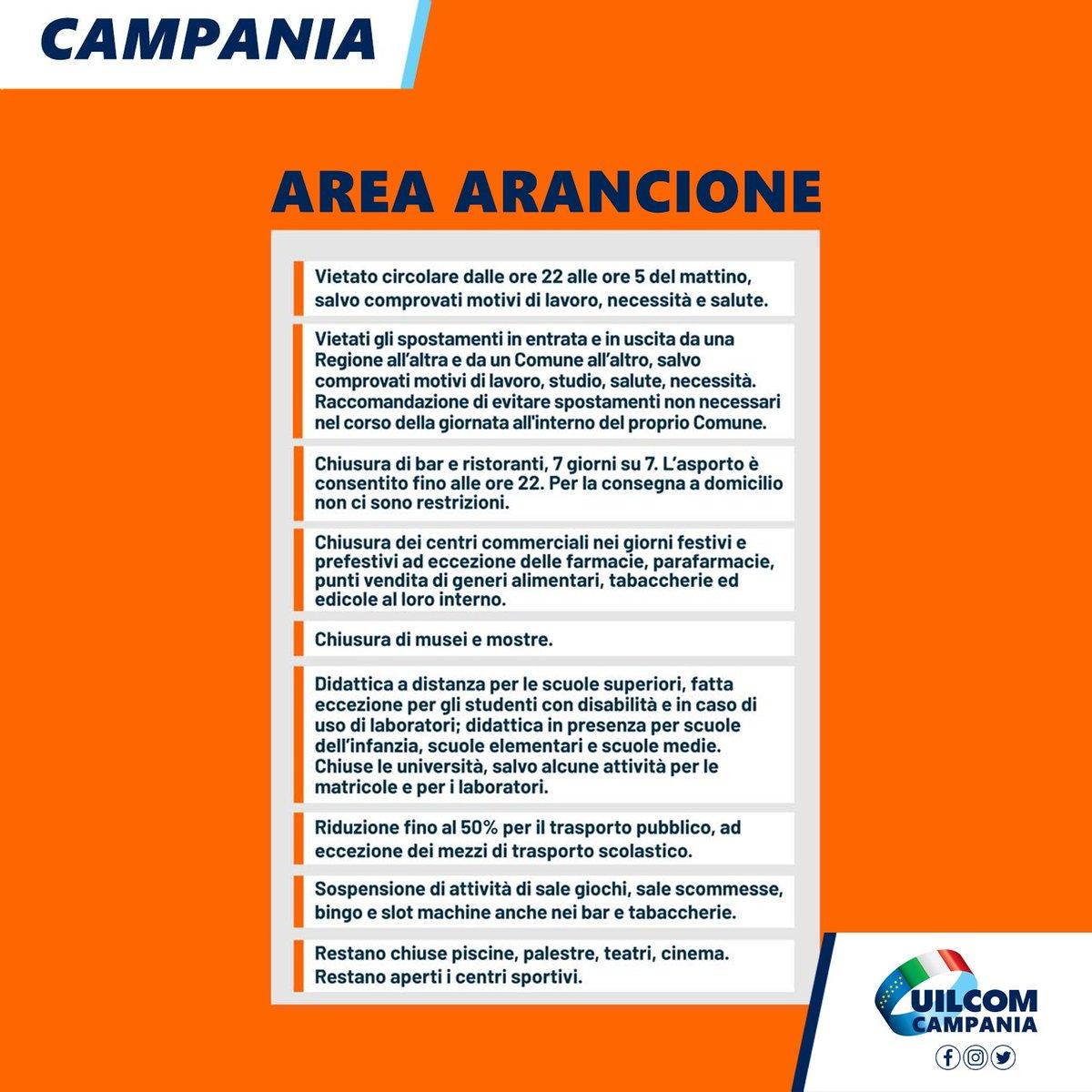 🟠 @Reg_Campania A PARTIRE DA DOMANI 6 #DICEMBRE #2020 entra nell' AREA ARANCIONE. Ecco cosa sarà possibile fare. #zonaARANCIONE #lockdown