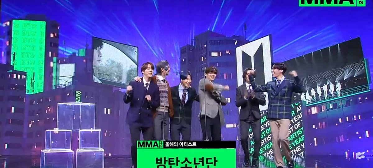 @BTS_twt has won 'Artist Of The Year' (Daesang) at the 2020 Melon Music Awards. 🥳🎉 #MMA2020