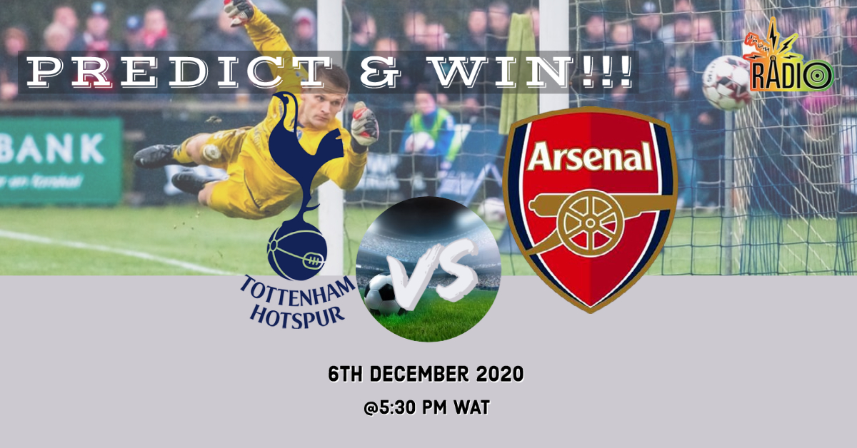 #PredictandWin N1000 airtime @SpursOfficial vs @Arsenal 1. Follow our Twitter handle 2. Like and Retweet this post 3. Subscribe to our YouTube channel via the link below send a screenshot as evidence 4. Comment your prediction   #SaturdayThoughts #Predict