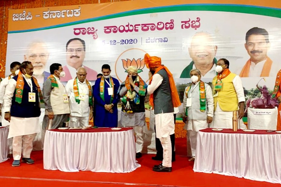 Inaugurated the State Executive Committee meeting of @BJP4Karnataka along with Hon'ble CM @BSYBJP ji and State president @nalinkateel ji. The whole day long meeting will be discussing various significant issues related to developmental perspective of State and organisation.