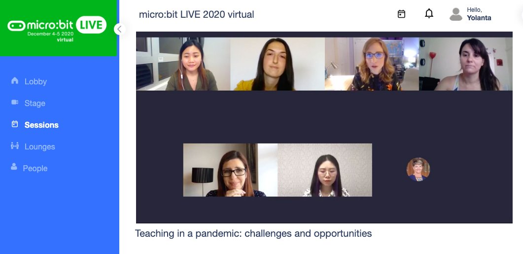 so many ideas from this AMAZING #allwomen panel about how they are overcoming the challenges teaching through a pandemic. Opportunities are there! #microbitlive #WomenInSTEM