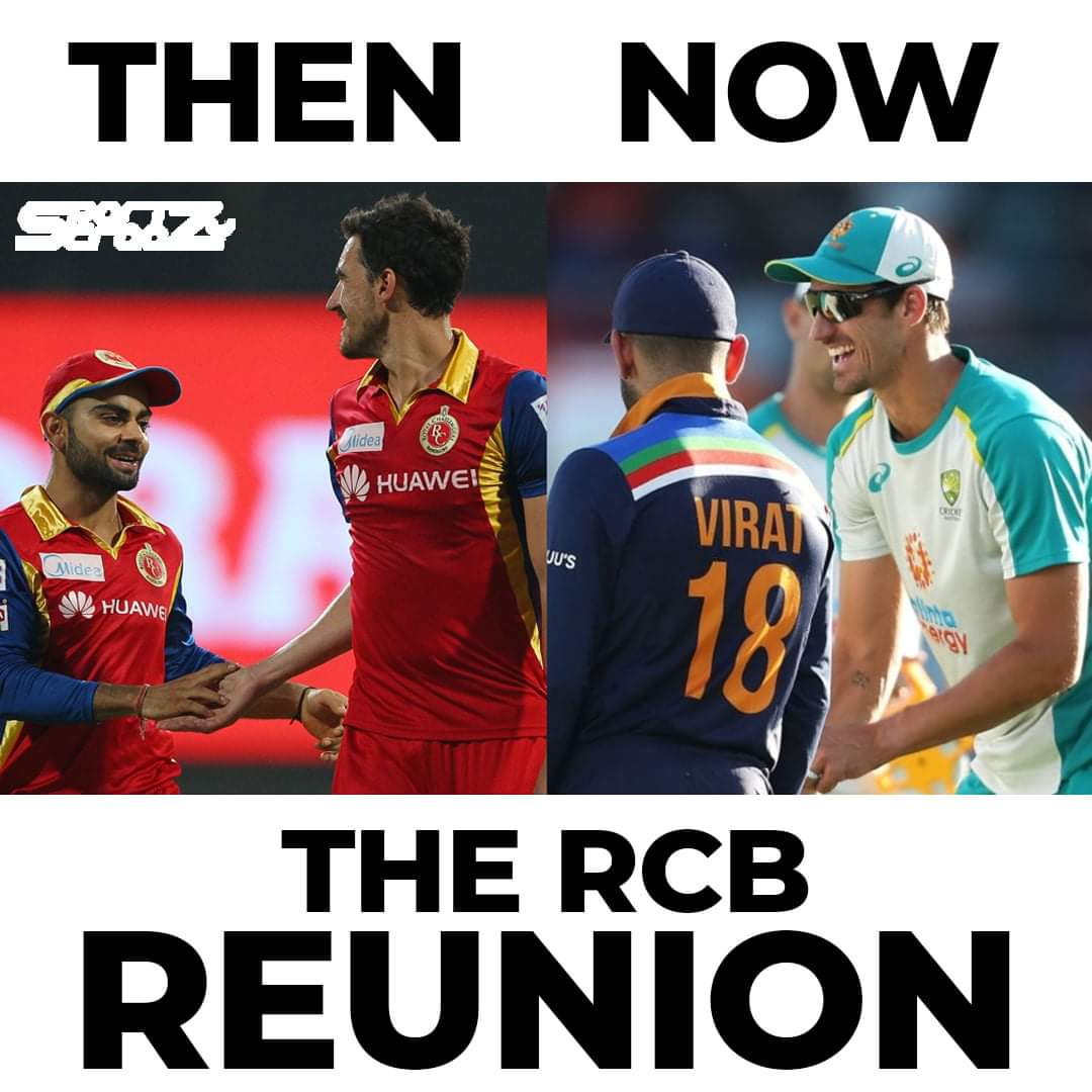 RCB bond..❤️ Divided by nations & United by @IPL 😎 @imVkohli #Starc #RCBForever @RCBTweets #PlayBold