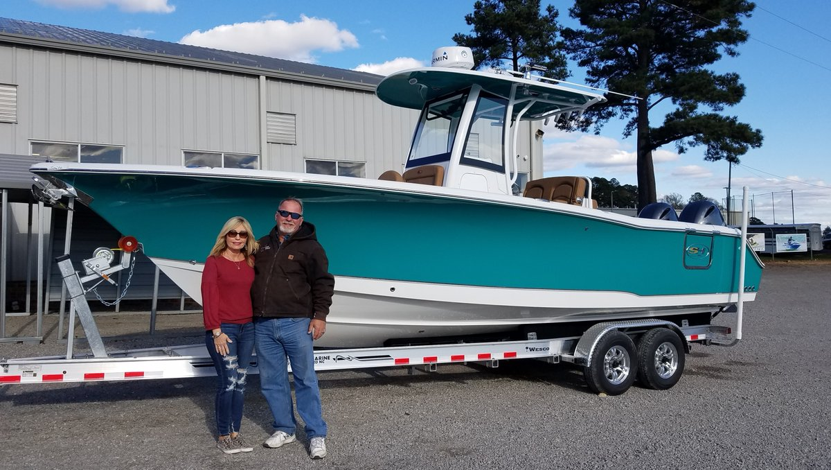 Chris Mace and Team Chatlee would like to thank the Smith Family for their business and congrats on the new Sea Hunt 27 Gamefish!  #chatleemarine #seahuntboats #yamahaoutboards #seahunt #saltlife #boats #beach #intercoastal #fishing #bluewater #northcarolina #centerconsolesonly