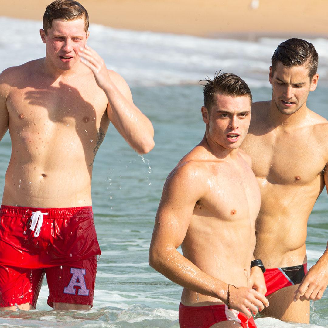 What do you think each one of them is thinking? 🙊  #aussieBum #beach #menswimwear #location #men #mensunderwear #fashion #motivation #hunk #stud #sexyman #love #malemodel #beautiful