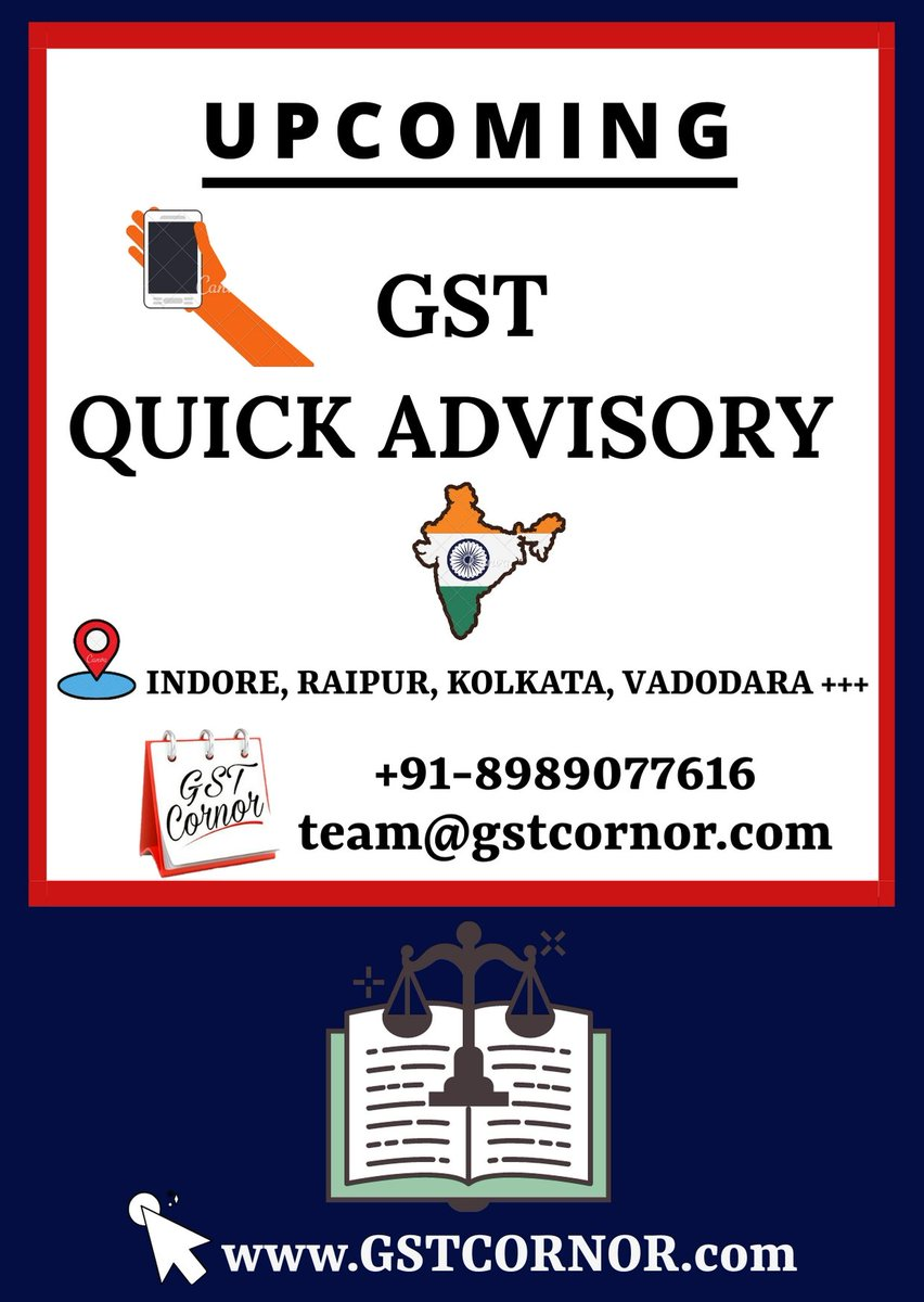 #Happy To Announce, Upcoming of GST Quick Advisory.   #LitigationPanel #Judiciary #GST #Law  #GSTCORNOR #Quick