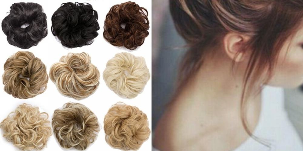 #BESTSeller #tagsforlikes Scrunchy Hair Bun Fake Hair Synthetic