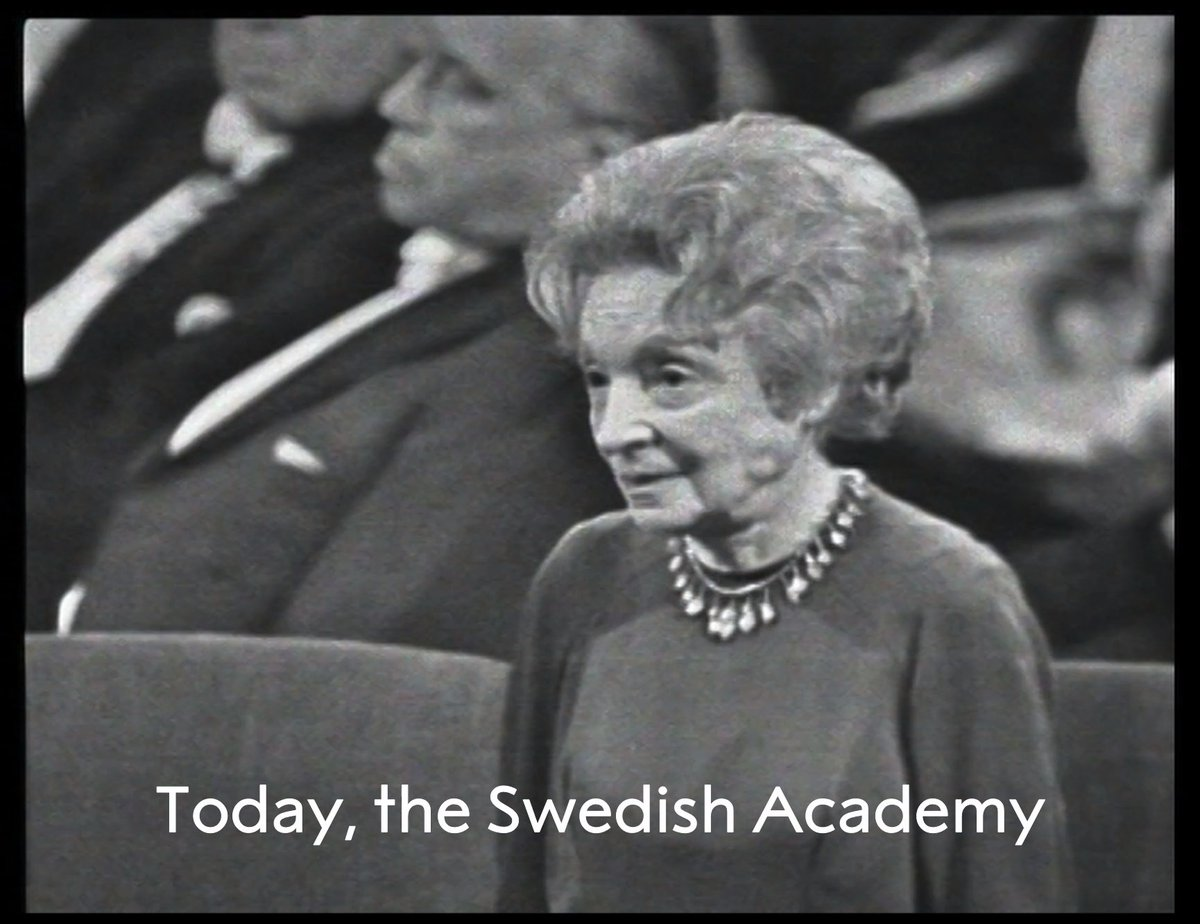 Can you imagine receiving a Nobel Prize on your birthday?  Watch the moment Literature Laureate Nelly Sachs received her #NobelPrize on her birthday, 10 December, in 1966.  Stay tuned for this year's #NobelPrize award ceremonies which, this year, we'll be bringing to you online.
