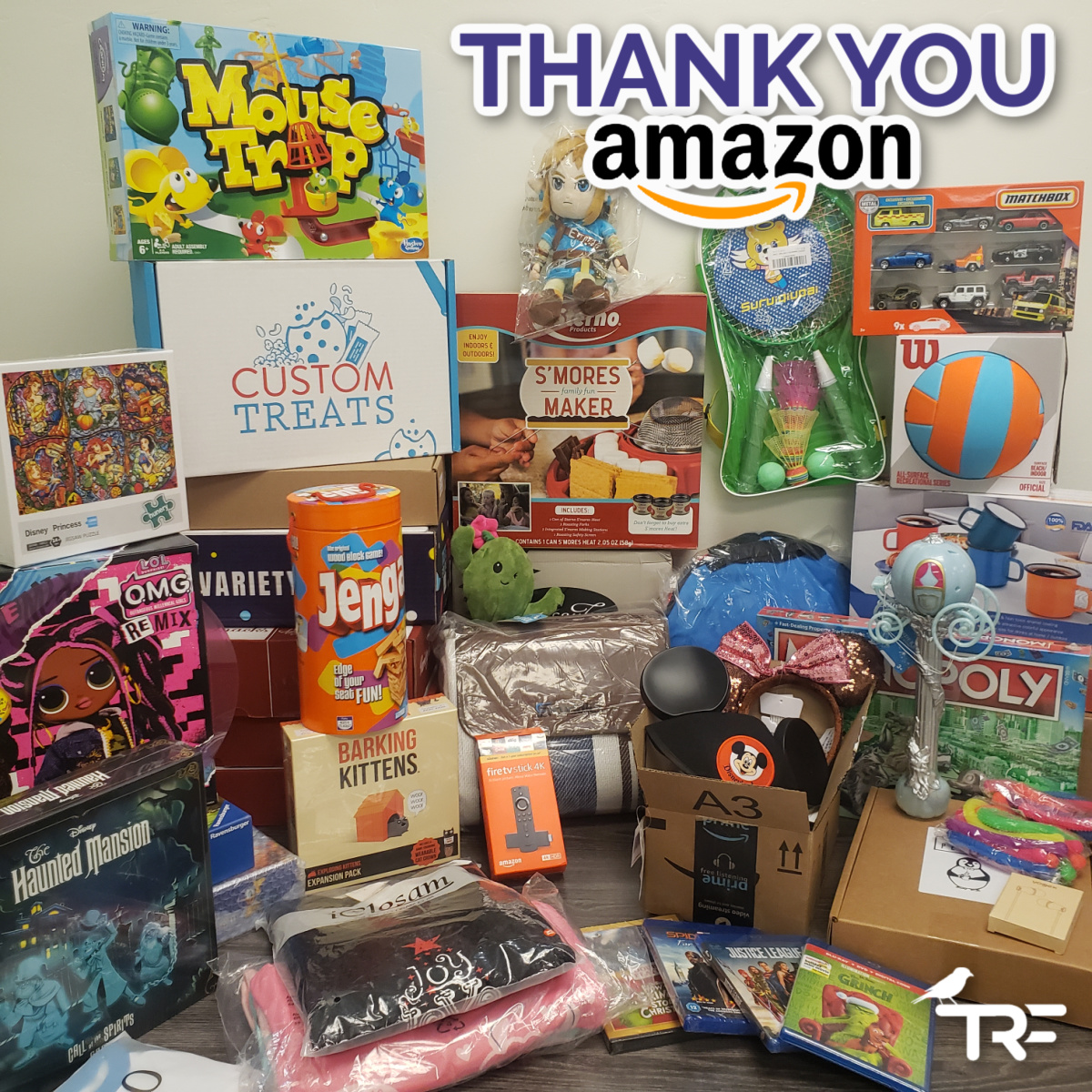💜💜💜 So thankful to our friends at @Amazon.   They surprised us by granting SO many pediatric cancer family wishes by fulfilling much of our holiday wish list: . There are a few things left if you want to help!   #deliveringsmiles #slaycancerwithdragons