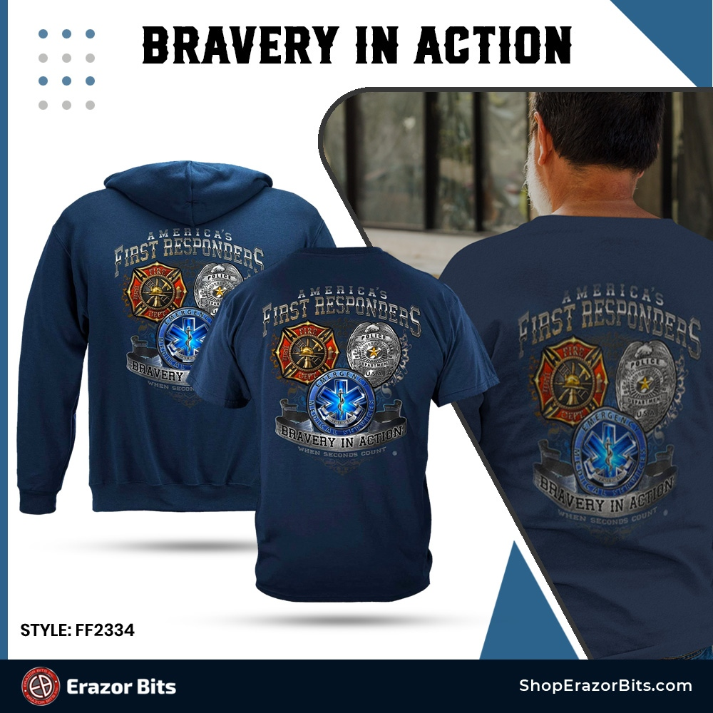 America's First Responders Premium T-Shirt  Shop now:   #firstresponders #firstrespondersfirst #firstrespondersday #firefighter #firstrespondersstrong #citizensoldiers #Femalecops #Allfirstresponders #ErazorBitsNation #ShopErazorBits