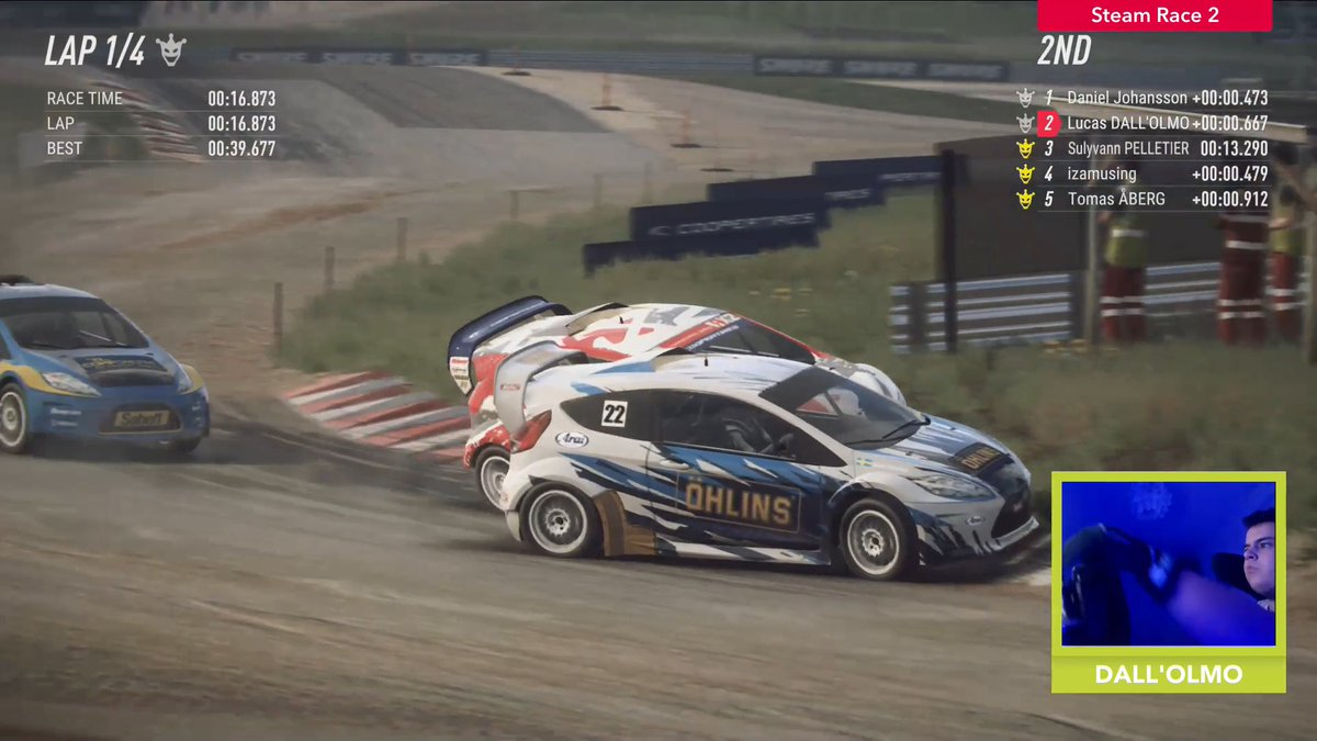 The start is key in Rallycross, fight for every place you can 💥  🏆 #DiRTRally 2.0 World Series | 🎮 DiRT Rally 2.0 | @FIAWorldRX