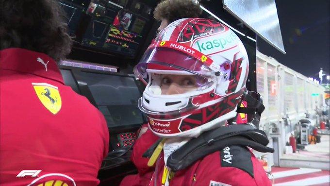 Leclerc en el muro cuando faltaban 4 minutos.