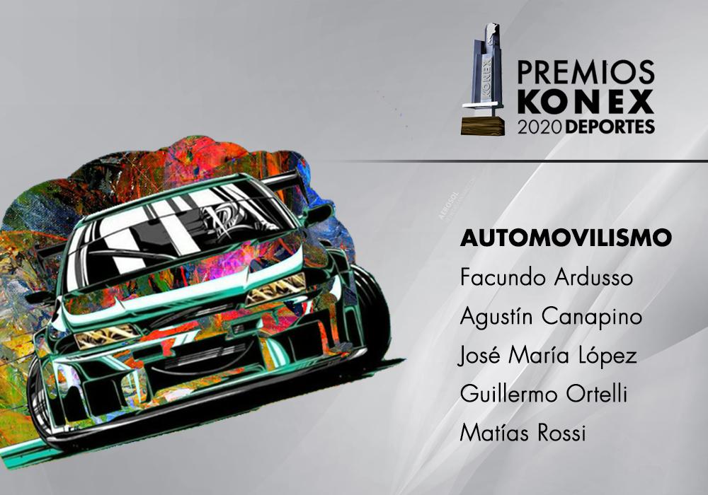 En la disciplina #Automovilismo 🏎, los ganadores del #PremioKonex son:  🔹@FacundoArdusso 🔹@AgustinCanapino 🔹@Pechito37 🔹@GUILLEORTELLI 🔹@rossimatias  Aquí el listado completo de premiados 👇