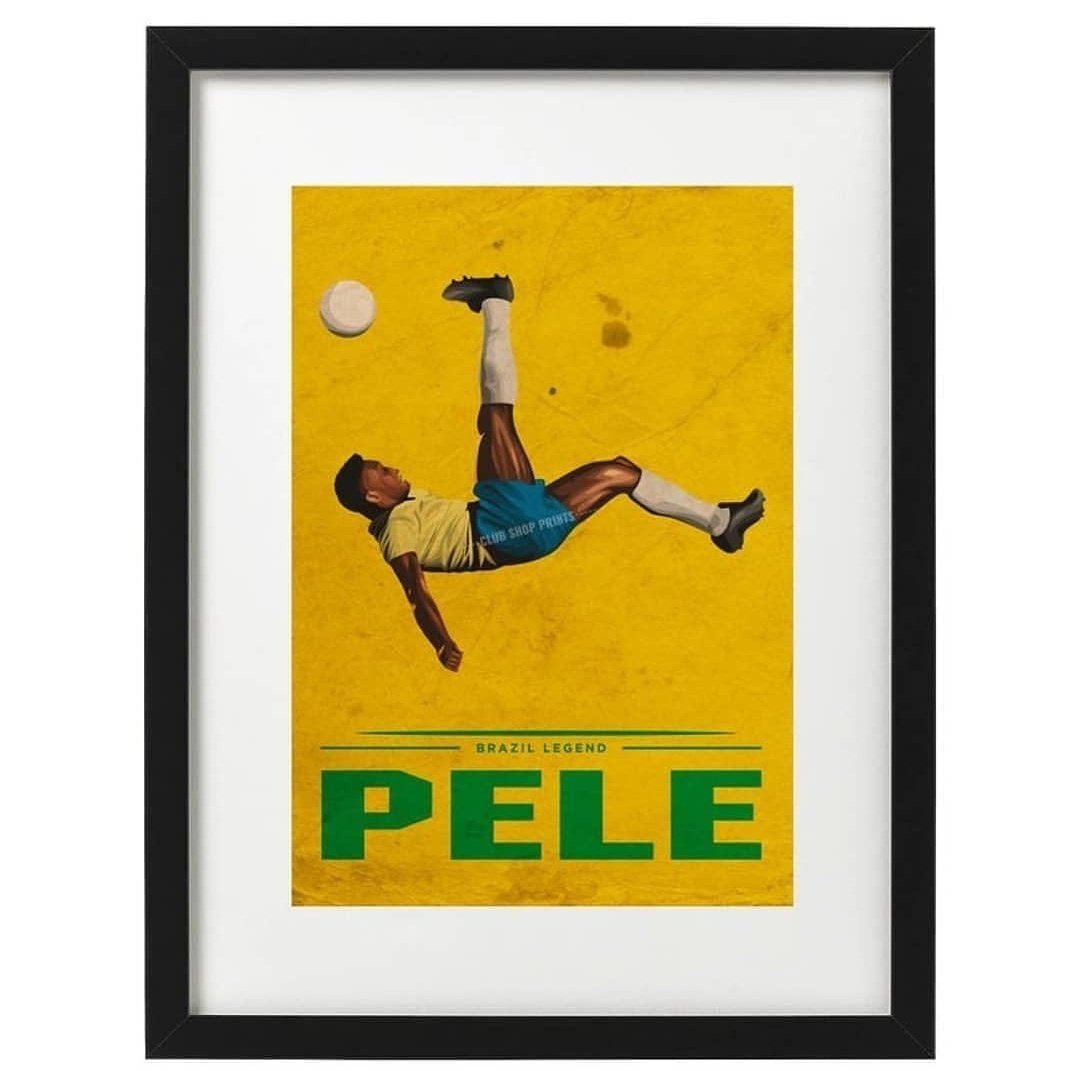 Pele and Maradona art prints available now. Free UK delivery. Link in bio 👆 #footballart #etsy #etsyshop #pele80 #pele #brazil #worldcup #Maradona #diegomaradona #RetroFootball
