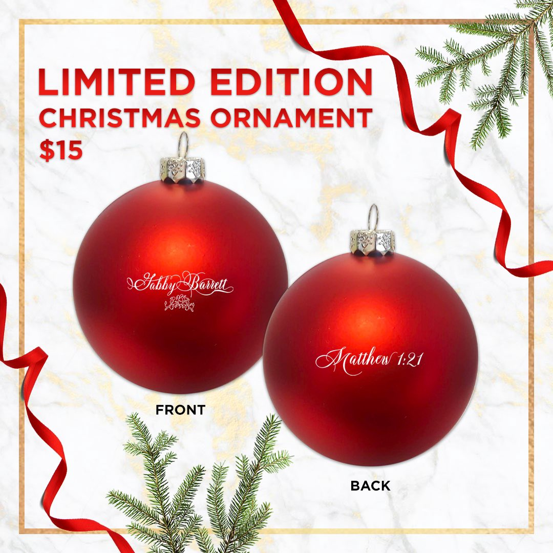 Wanted to give y'all something special this year! LIMITED edition ornaments. There aren't many, so go grab yours NOW! A sweet gift for a fan, or family member ❤️ Love yall!
