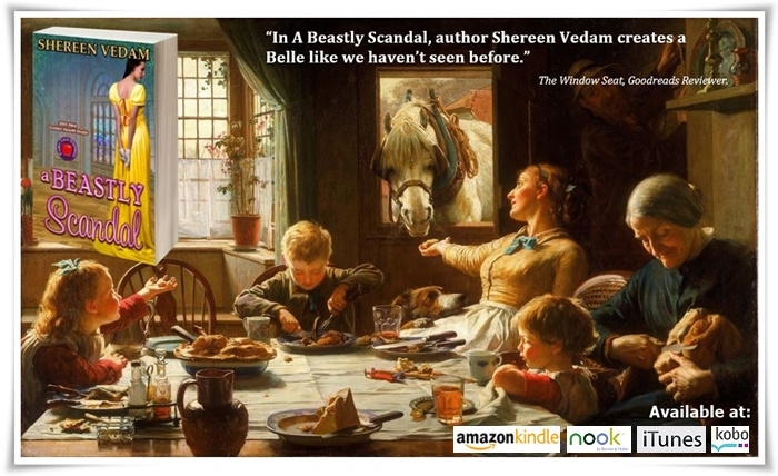 """#Regency #Romance #Paranormal A Beastly Scandal by Shereen Vedam """"You did not faint?"""" Mrs. Jones's query sounded like an accusation."""