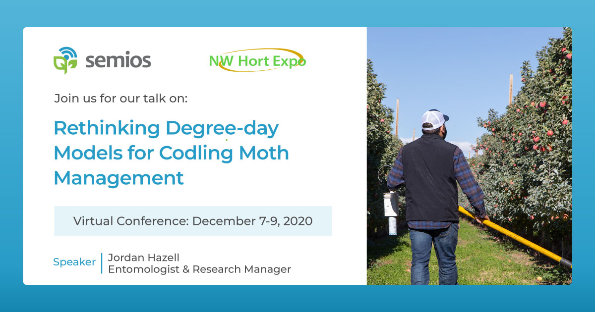 The 2020 NW Hort Expo begins next week! Drop by our booth & join us for our presentation on how #apple growers & fieldmen can better control pest pressure with site-specific models for codling moth management. Learn more at https://t.co/RK5pDdMMUY  #codlingmoth #agtech #wagrown https://t.co/c7k2zOzBH2