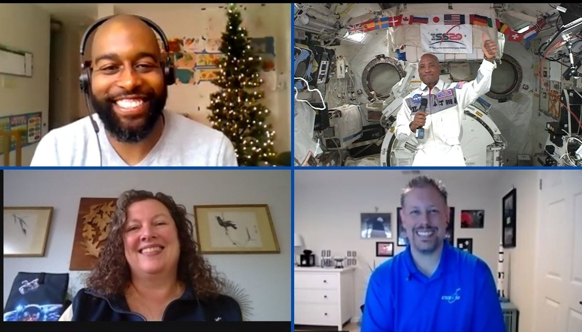 Awesome experience speaking with @AstroVicGlover while he was on the International Space Station. @nmaahc and @airandspacemuseum are setting bar high. This was definitely one of the most memorable moments of my life- all from the comfort of my living room. @mkelsey36 & Beth too!