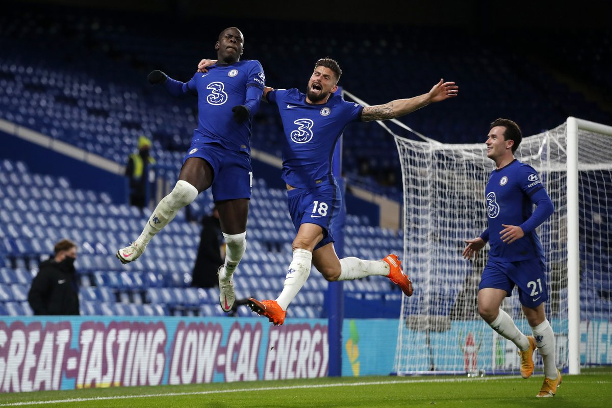 Replying to @ChelseaFC: You gotta get up high if you want to celebrate with @KurtZouma! 🤣  #CHELEE