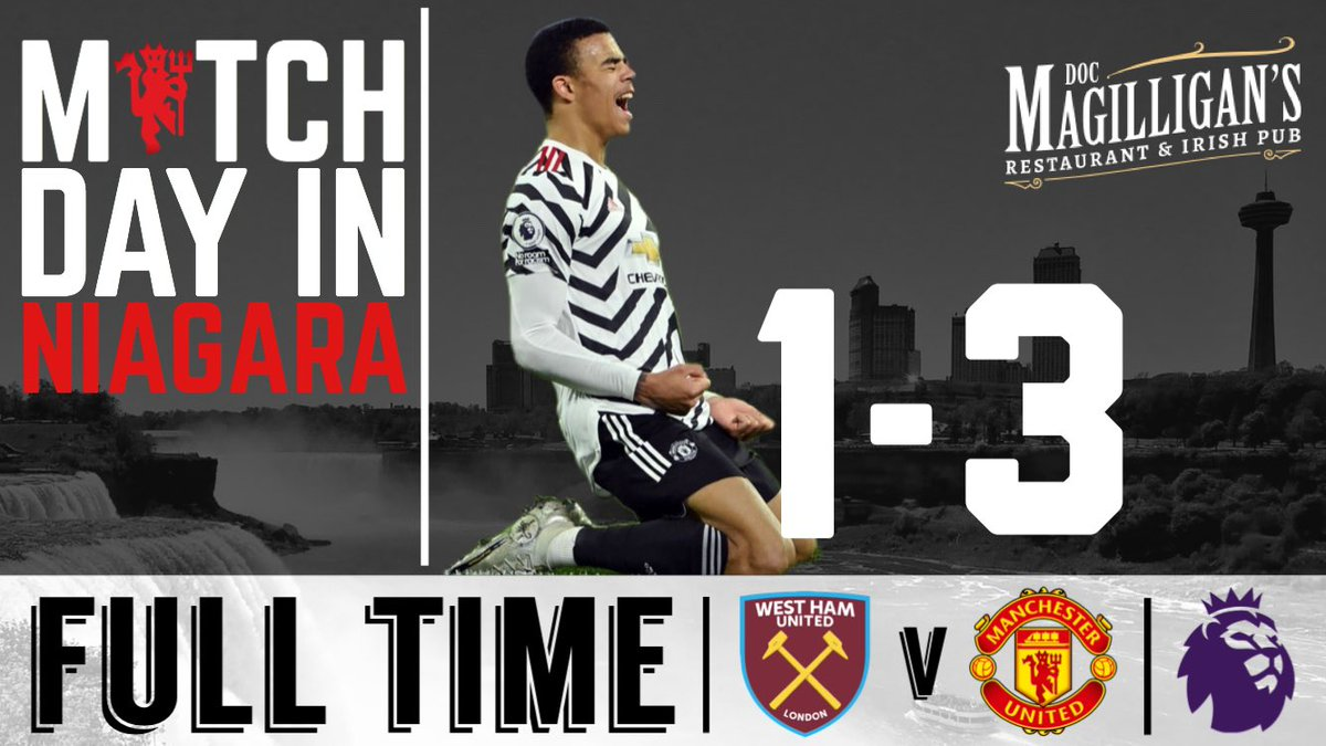 Second half improvement! 🔴⚪️⚫️  #WHUMUN | #MUFC | #NIAGARA