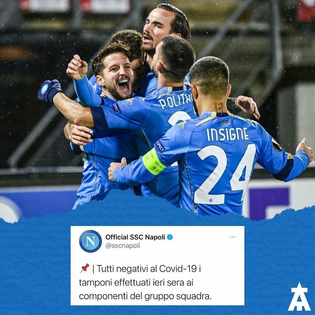 🆕Il Napoli ha comunicato che tutta la rosa è risultata negativa al Covid-19. #NonSaraiMaiSolo #ForzaNapoliSempre #SSCNapoli #Napoli #TeamArrow #Covid #Covid_19