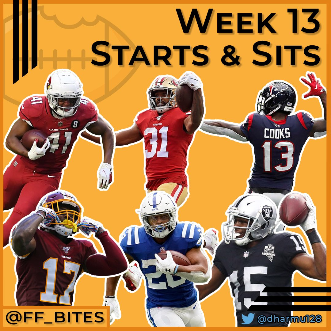 Who are you starting and sitting this week? @dharmu128 tells us who he is picking on the latest episode of Fantasy Football Bites! #fantasyfootball #fantasyfootballadvice #week13 #startsit