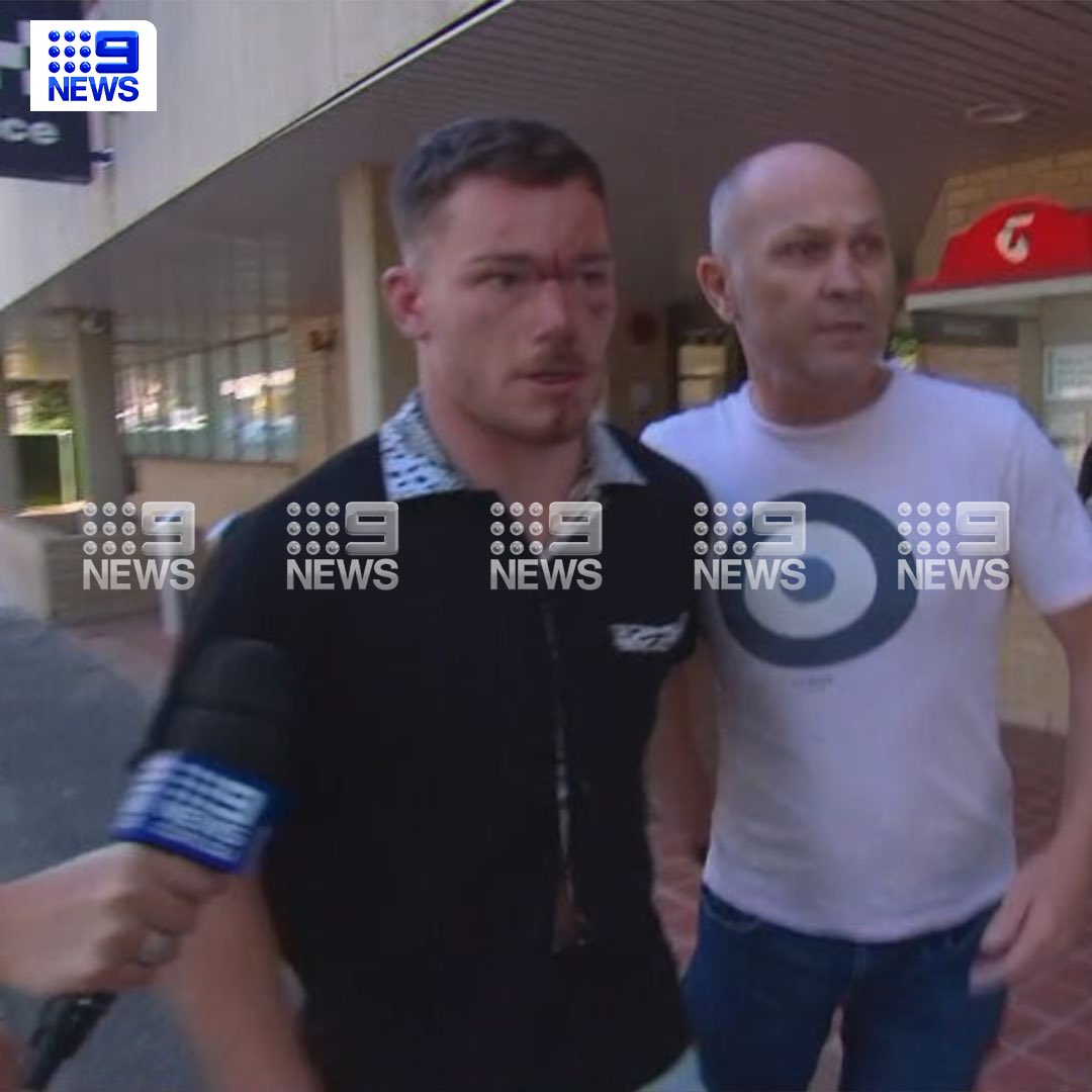 Here is the picture of Starling leaving the police station. Full story on @9NewsSyd tonight.