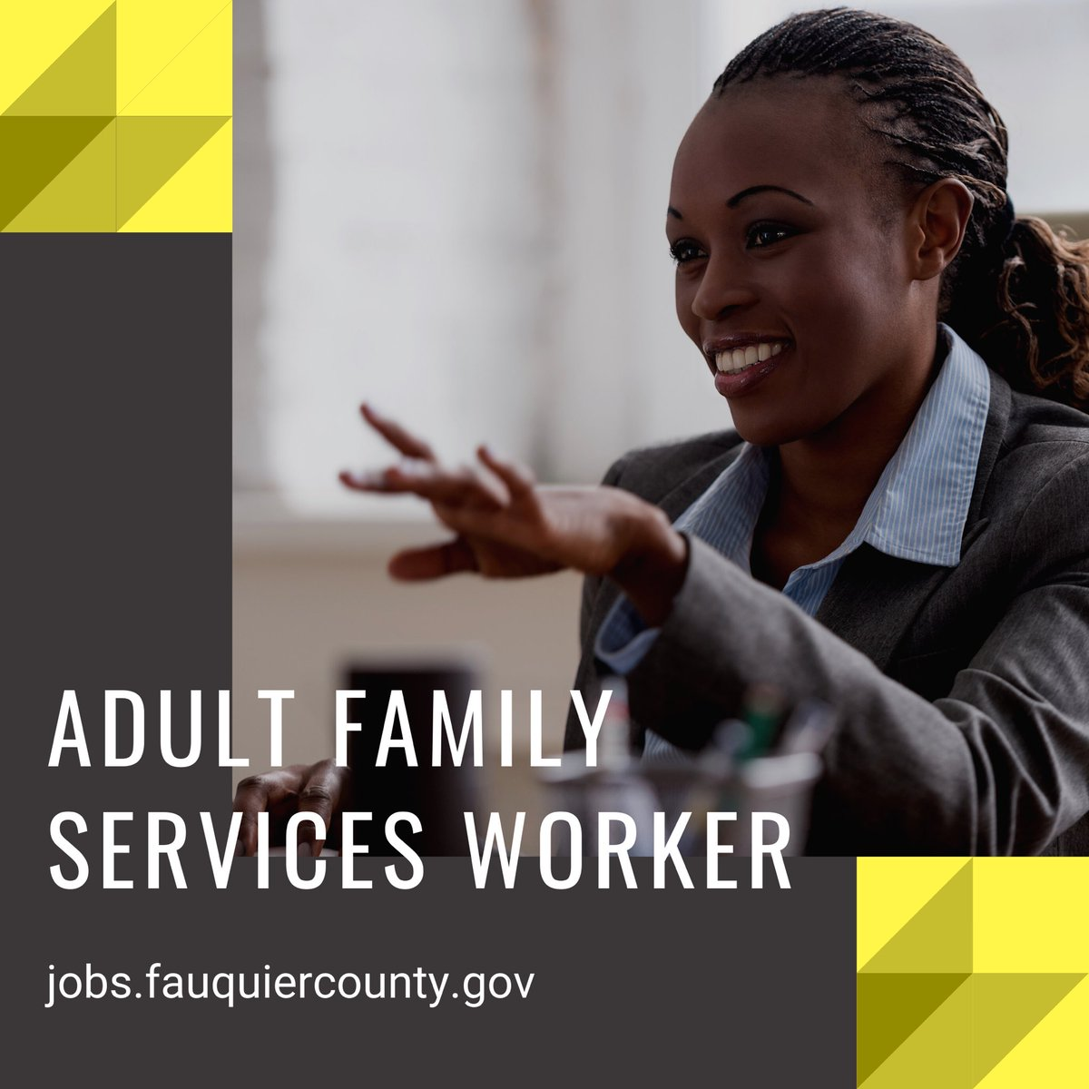 Career opportunity with Fauquier County Department of Social Services!  #work #jobs #FauquierCounty #fauquieremployment #careersingov #novahiring