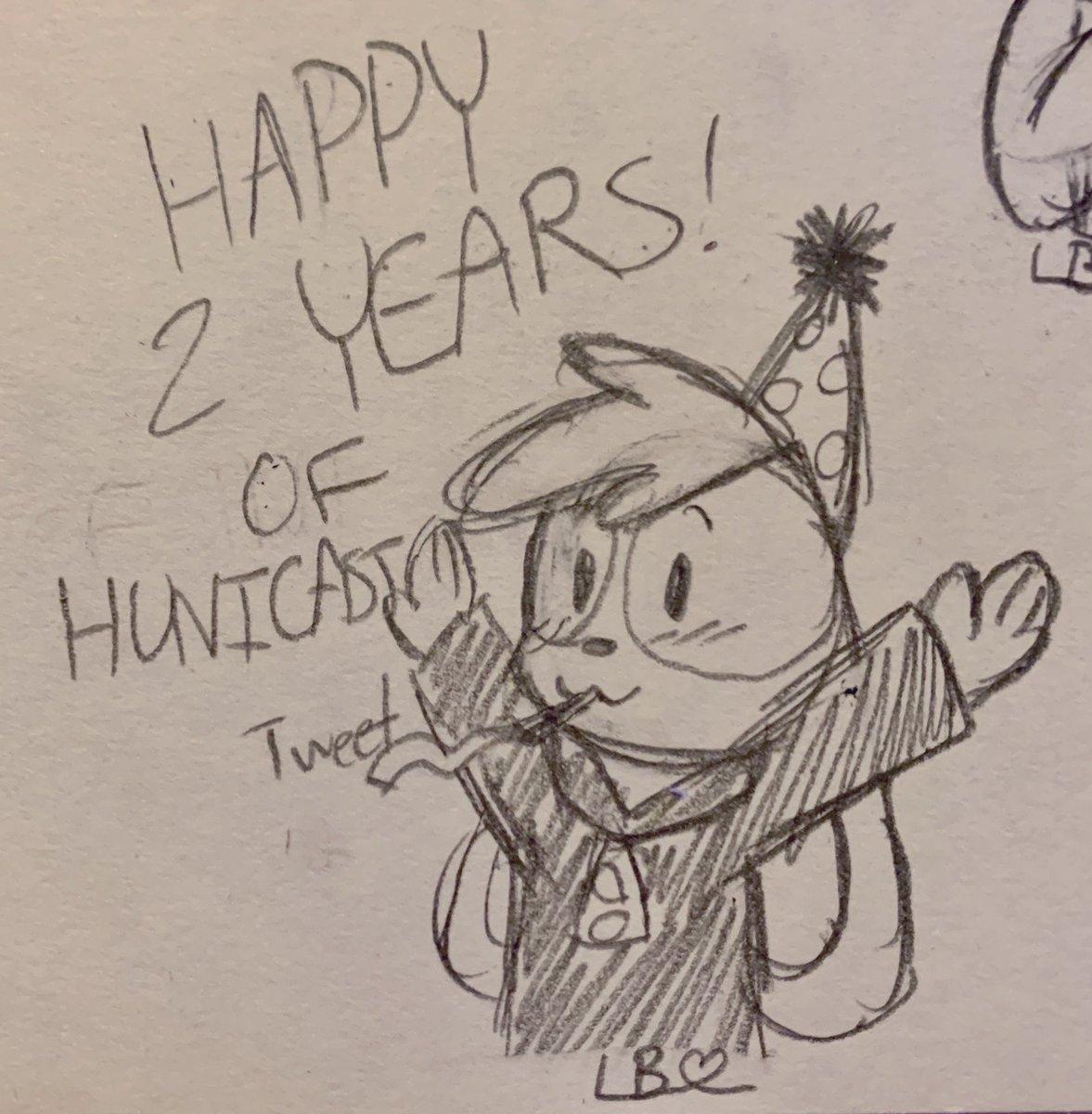 HAPPY BIRTHDAY HUNICAST!!! @AshNicholsArt #HuniCast